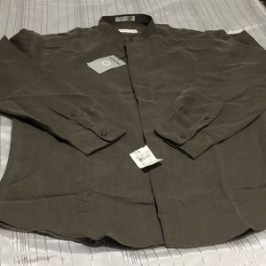 Alfani classy short collar button up new with tag!